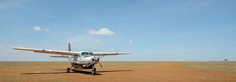 Safarilink plane in Kenya