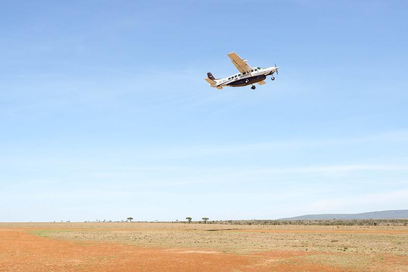 Safarilink plane in Kenya taking off