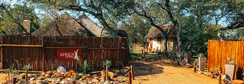 Entrance of Africa on Foot boutique safari lodge, South Africa